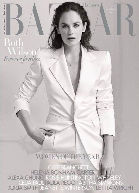 Ruth Wilson British Harper's Bazaar Cover December 2019