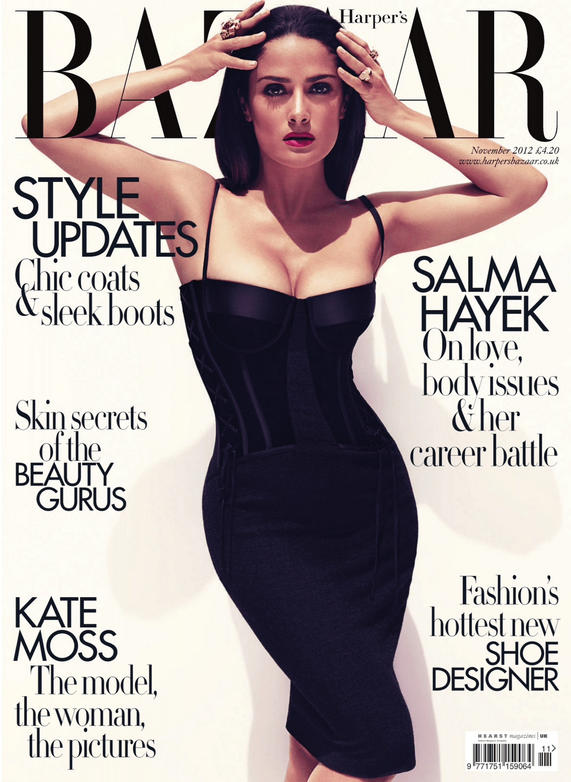 Salma Hayek British Harper's Bazaar Cover November 2012