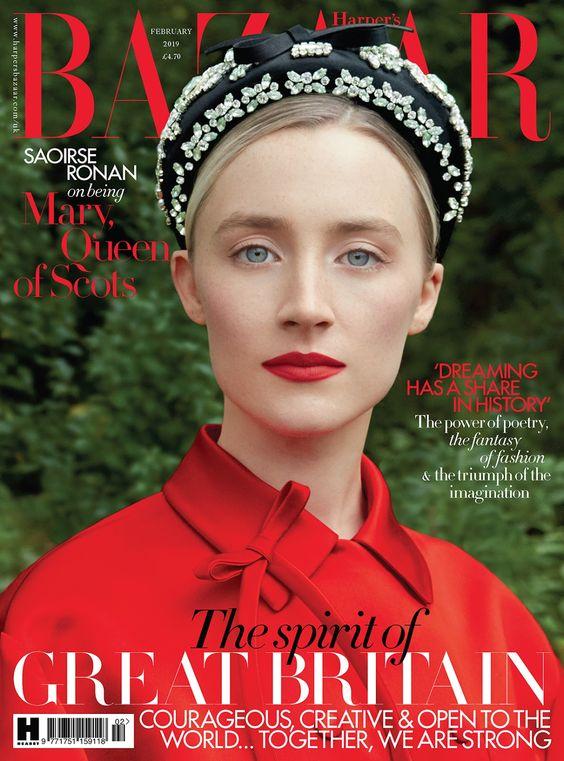 Saoirse Ronan British Harper's Bazaar Cover February 2019