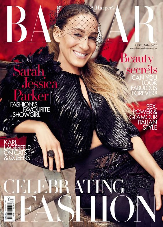 Sarah Jessica Parker British Harper's Bazaar Cover April 2014