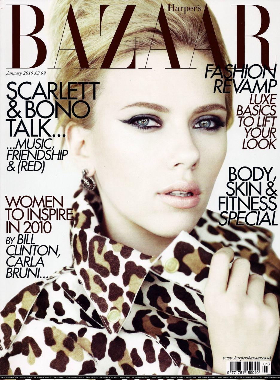 Scarlett Johansson British Harper's Bazaar Cover January 2010
