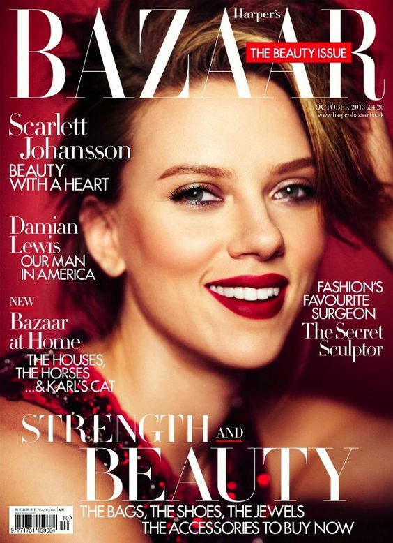 Scarlett Johansson British Harper's Bazaar Cover October 2013