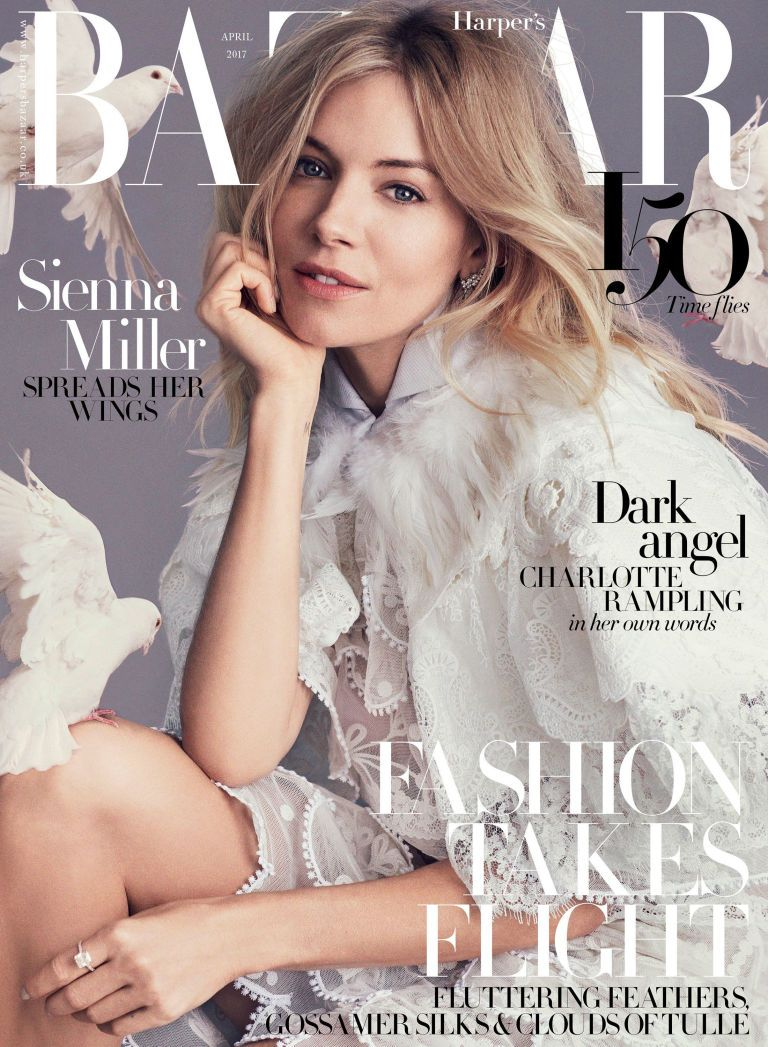 Sienna Miller British Harper's Bazaar Cover April 2017