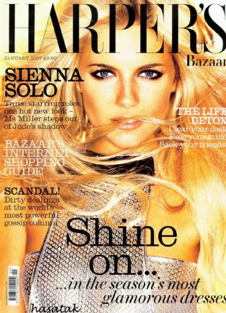 Sienna Miller British Harper's Bazaar Cover January 2007