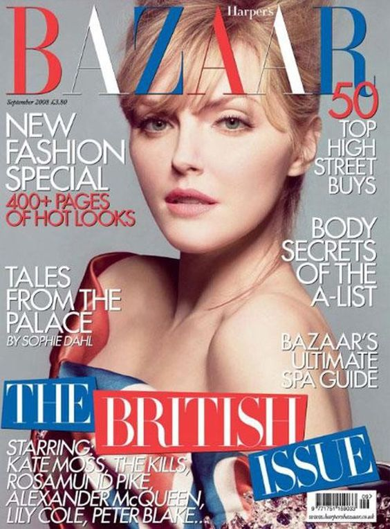 Sophie Dahl British Harper's Bazaar Cover September 2008