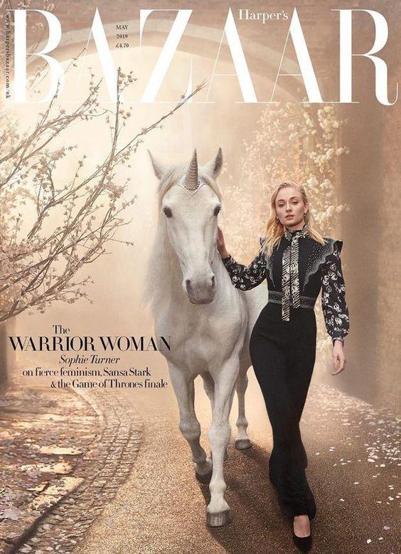 Sophie Turner British Harper's Bazaar Cover May 2019