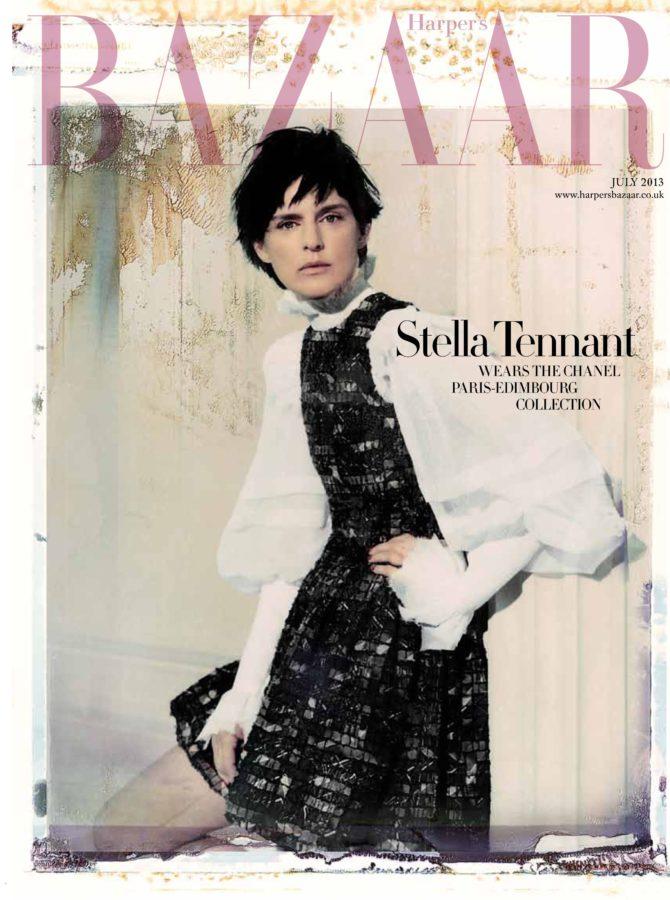 Stella Tennant British Harper's Bazaar Cover July 2013