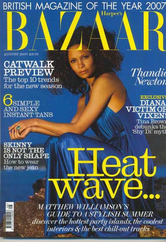 Thandie Newton British Harper's Bazaar Cover August 2007