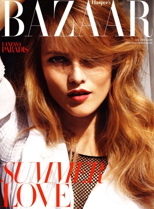 Vanessa Paradis British Harper's Bazaar Cover July 2010