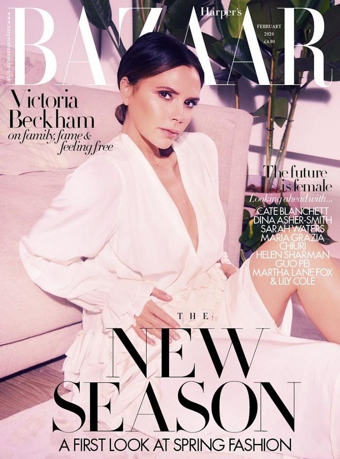 Victoria Beckham British Harper's Bazaar Cover February 2020