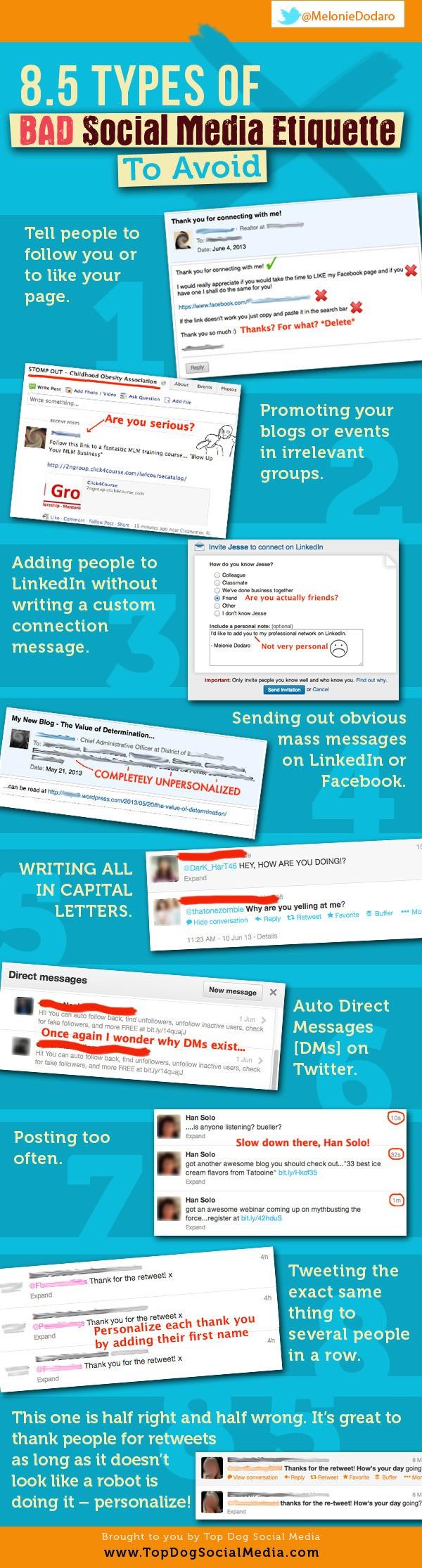 Social-Media Etiquette To Avoid