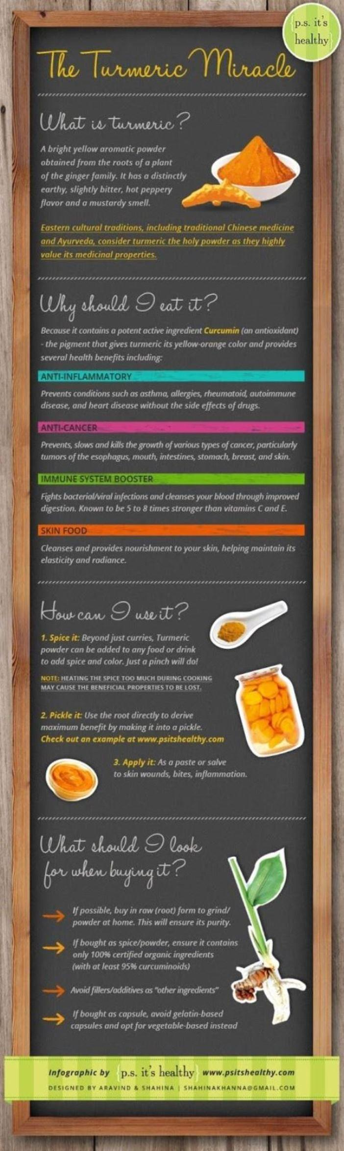 The Miraculous Benefits Of Turmeric