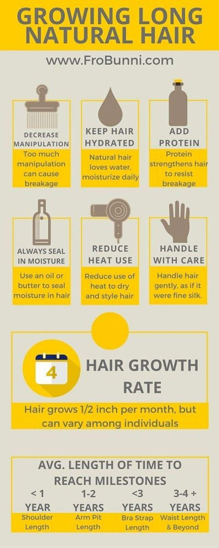 Tips For Growing Long Natural Hair