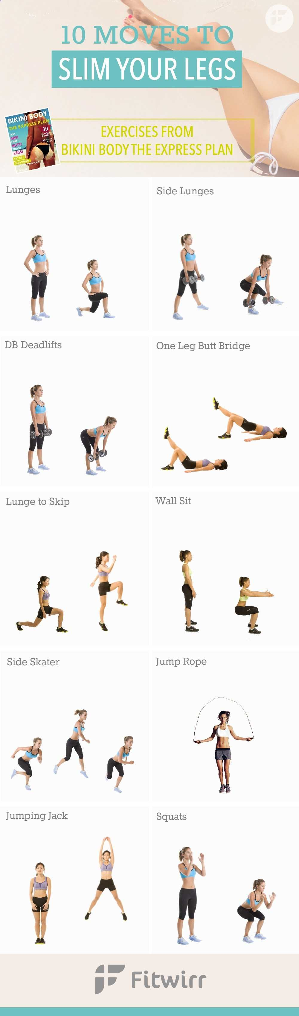 10 Best Exercises And Leg Workouts For Women