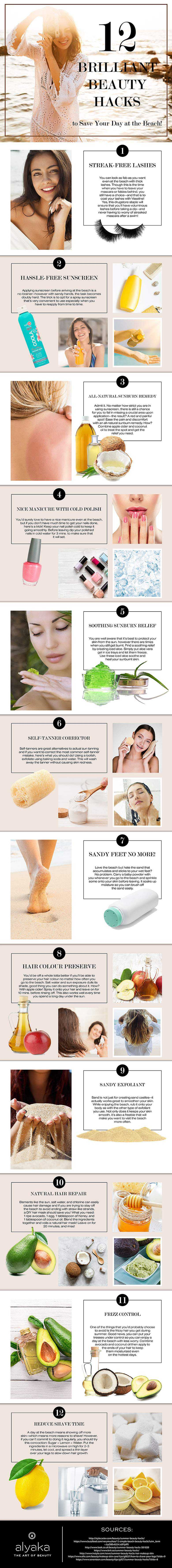 12 Beauty Hacks To Save Your Day At The Beach