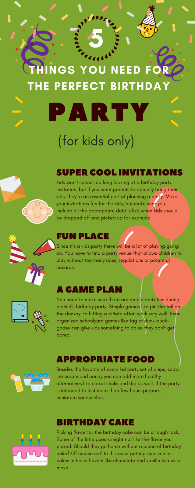 5 Things You Need For The Perfect Birthday Party