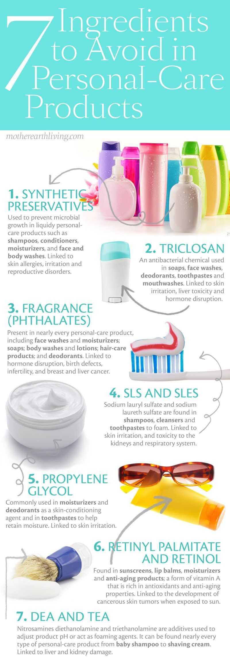 7 Ingredients to Avoid In Personal-Care Products