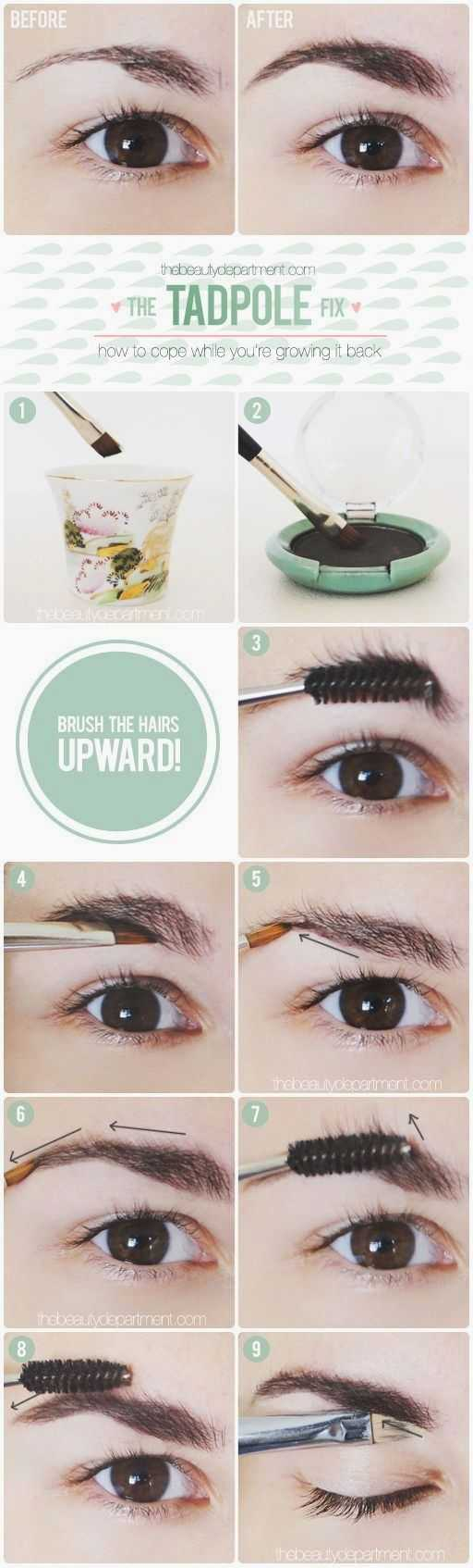 How To Disguise Over-Plucked Brows