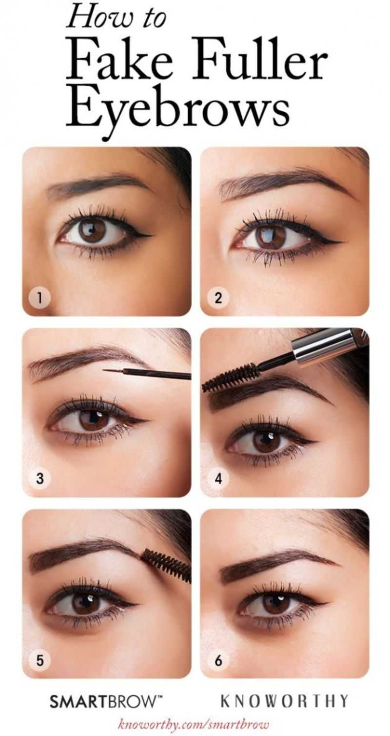 How To Fake Fuller Eyebrows In 6 Easy Steps