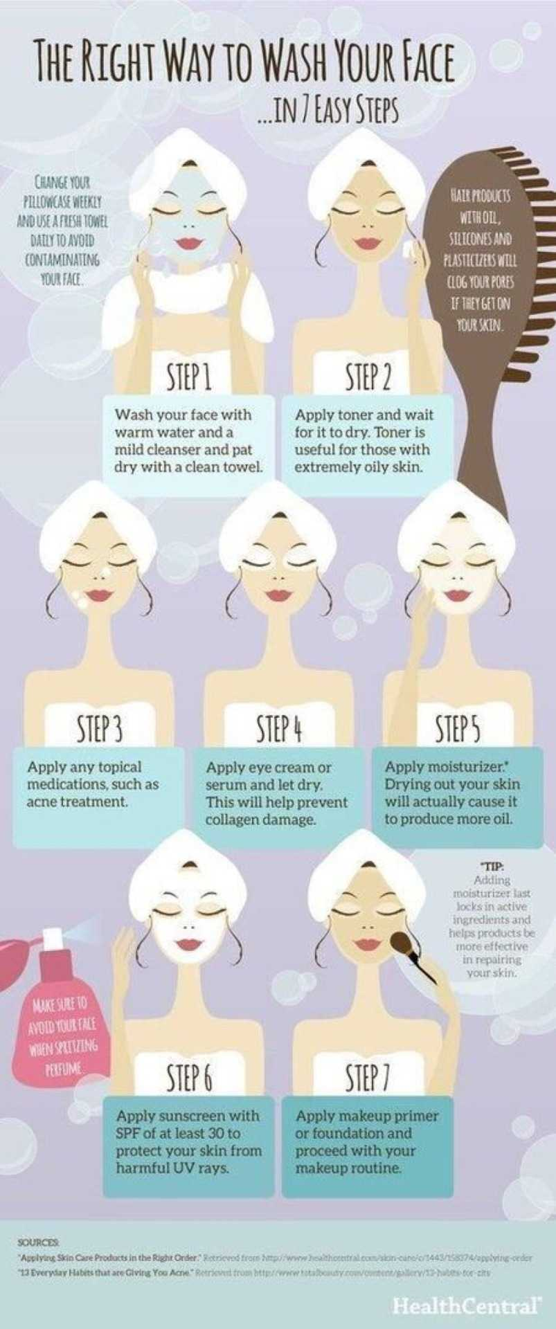 How To Wash Your Face