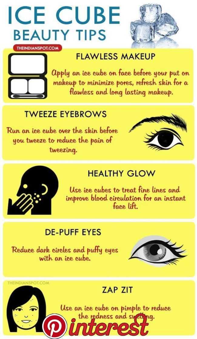 Ice Cube Beauty Tips