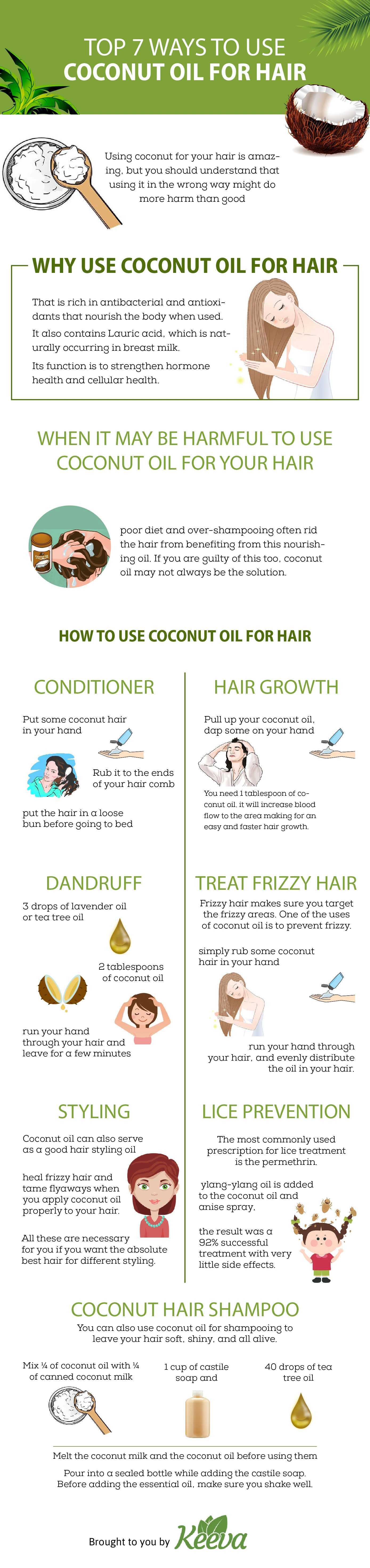 Top 7 Ways To Use Coconut Oil For Hair