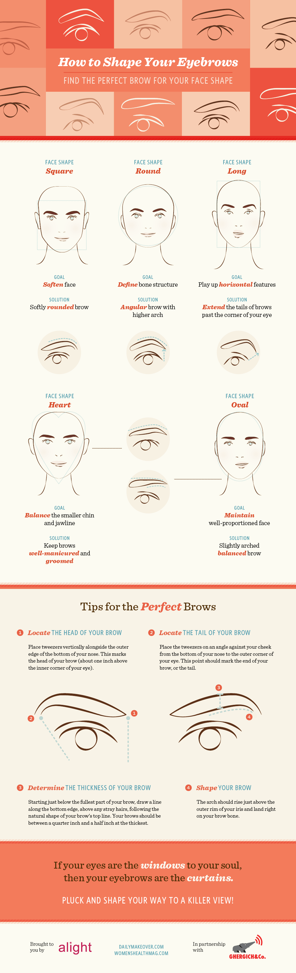 Which Eyebrows Are The Best For Your Face Shape