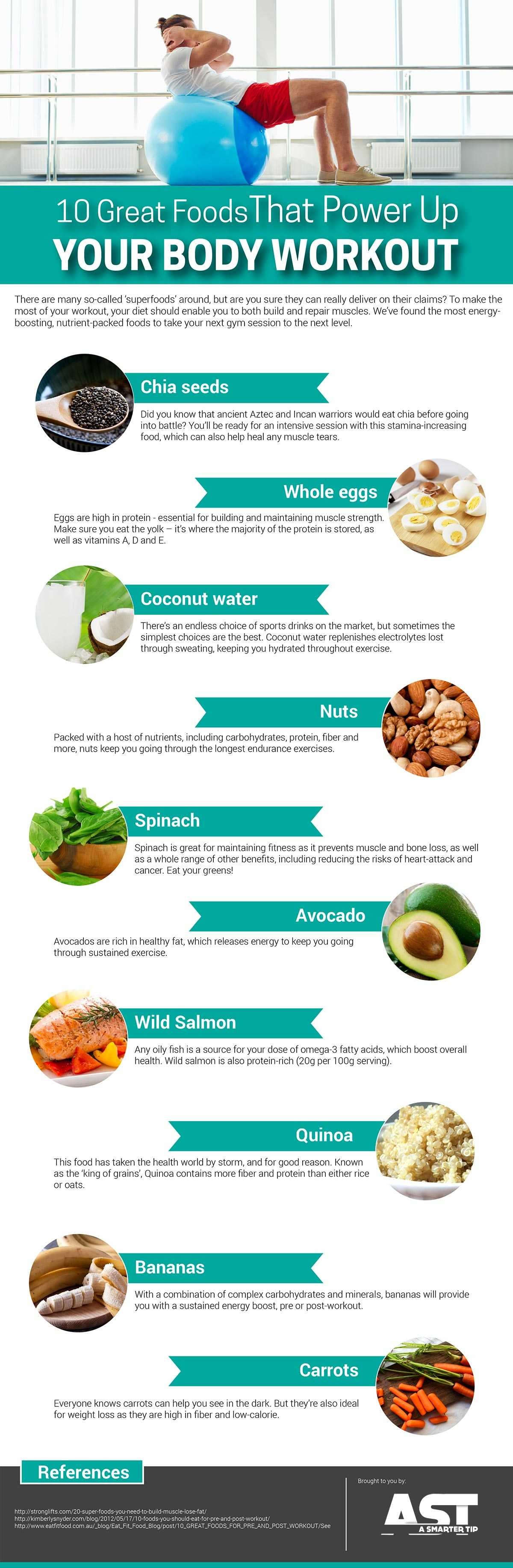10 Great Foods Power Up Workout