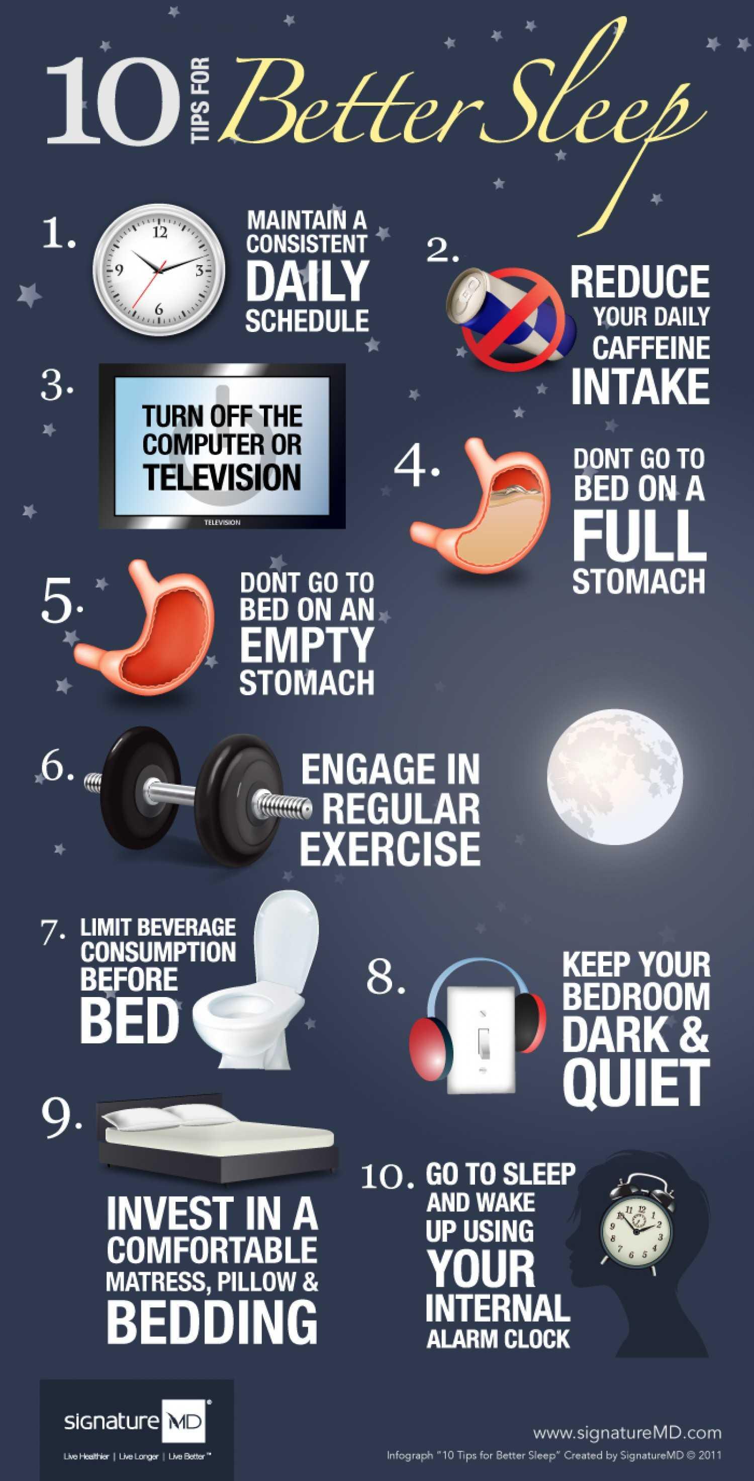 10 Tips For Better Sleep