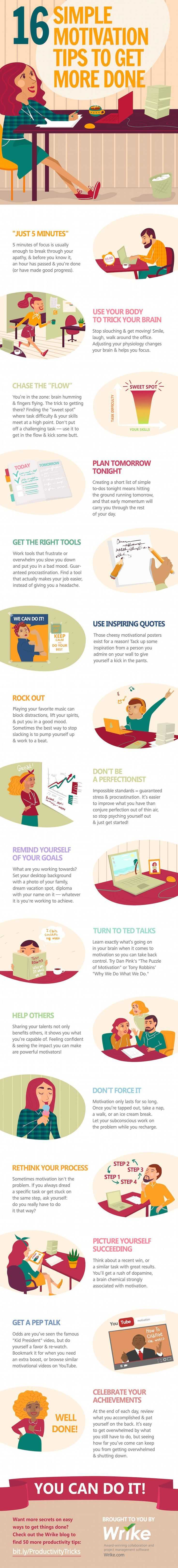 16 Easy To Try Motivation Tips To Get More Done