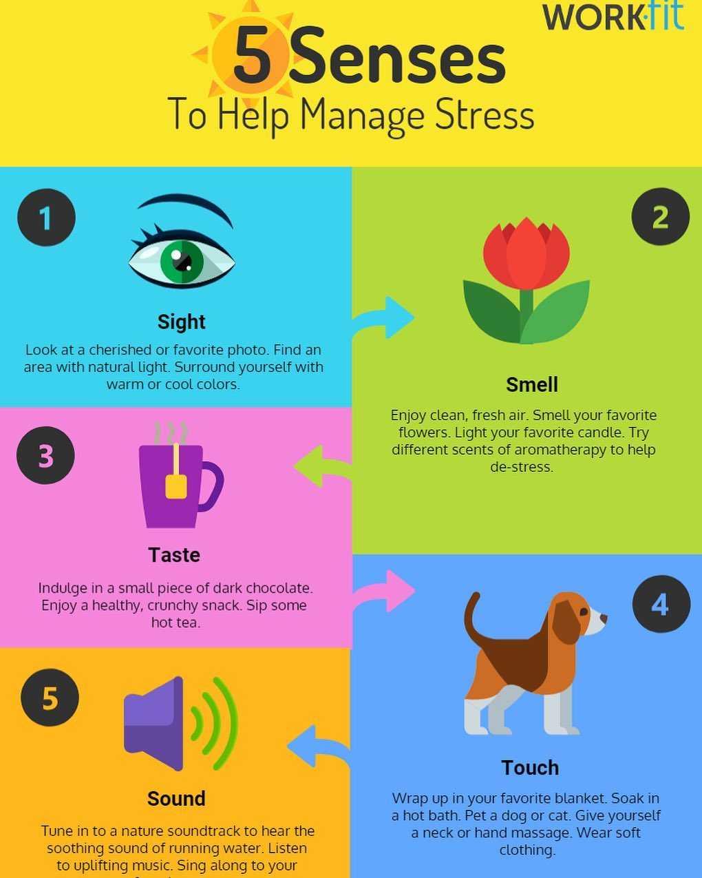 5 Senses To Help Manage Stress