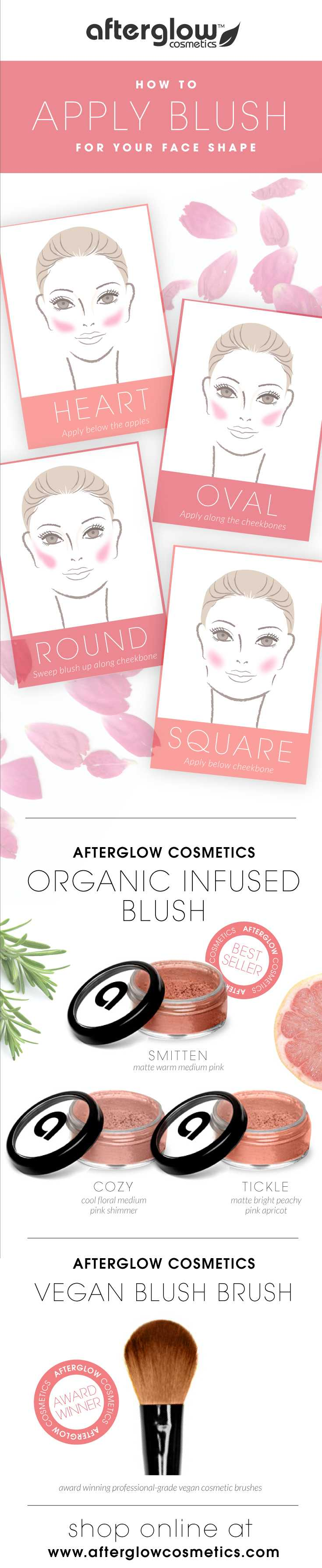 Highlight Contour Blush For Different Face Shapes