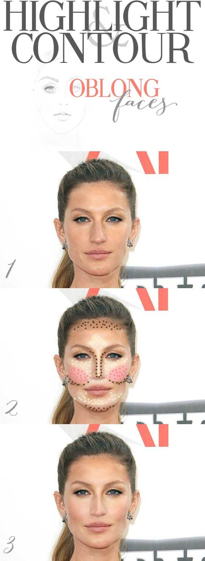 Highlight & Contour Oblong Faces