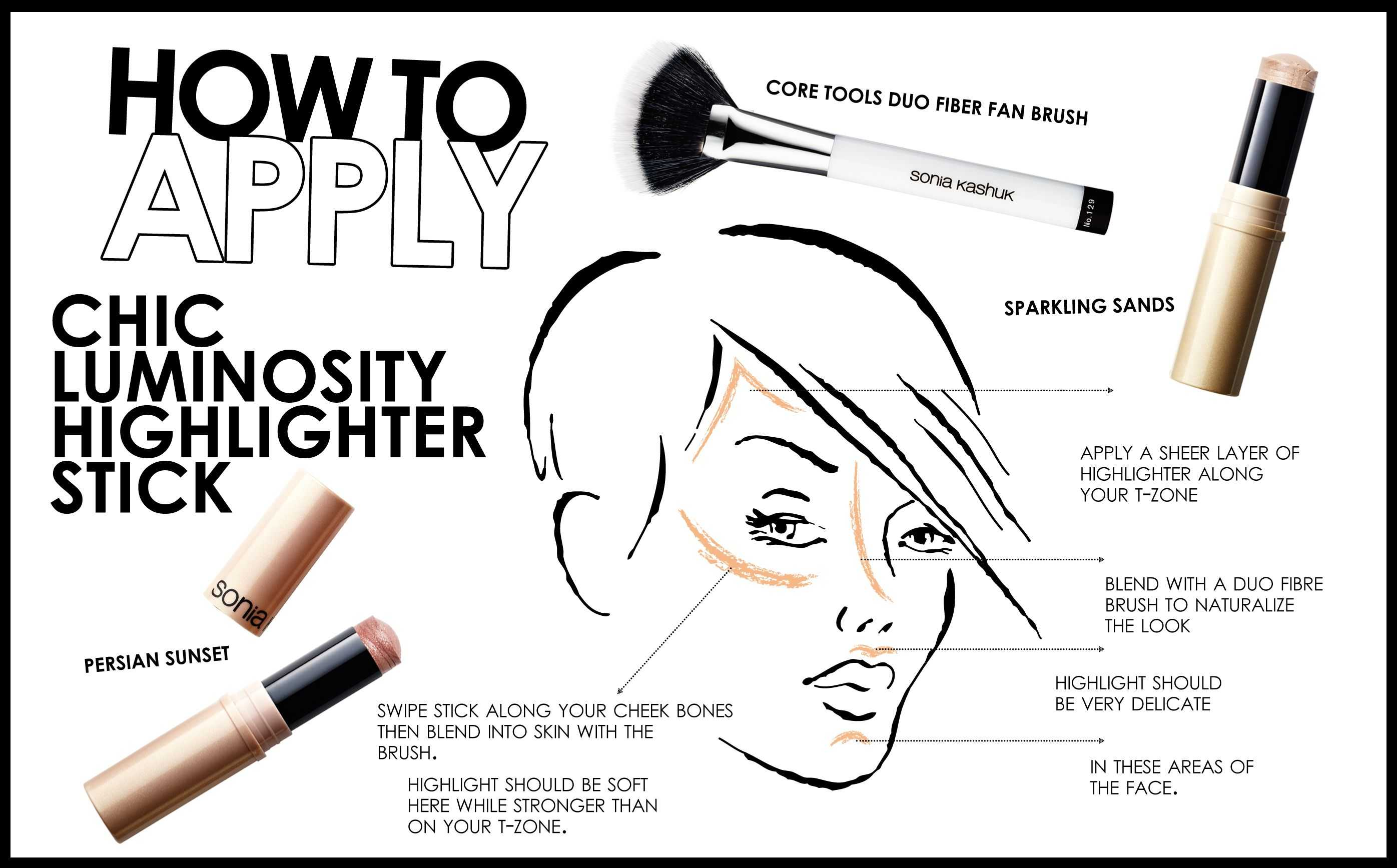 How To Apply Chic Luminosity Highlighter Stick