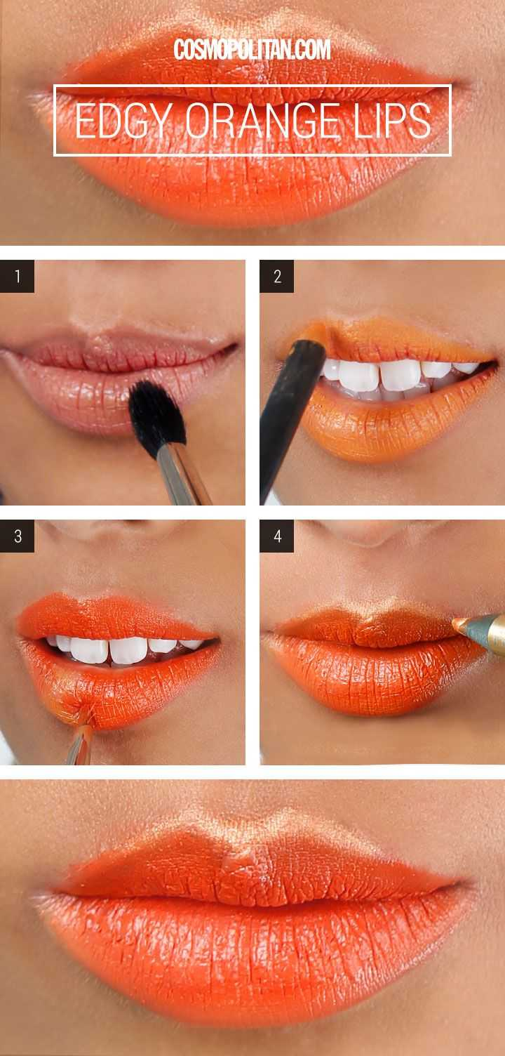 How To Do A Bold Orange Lip