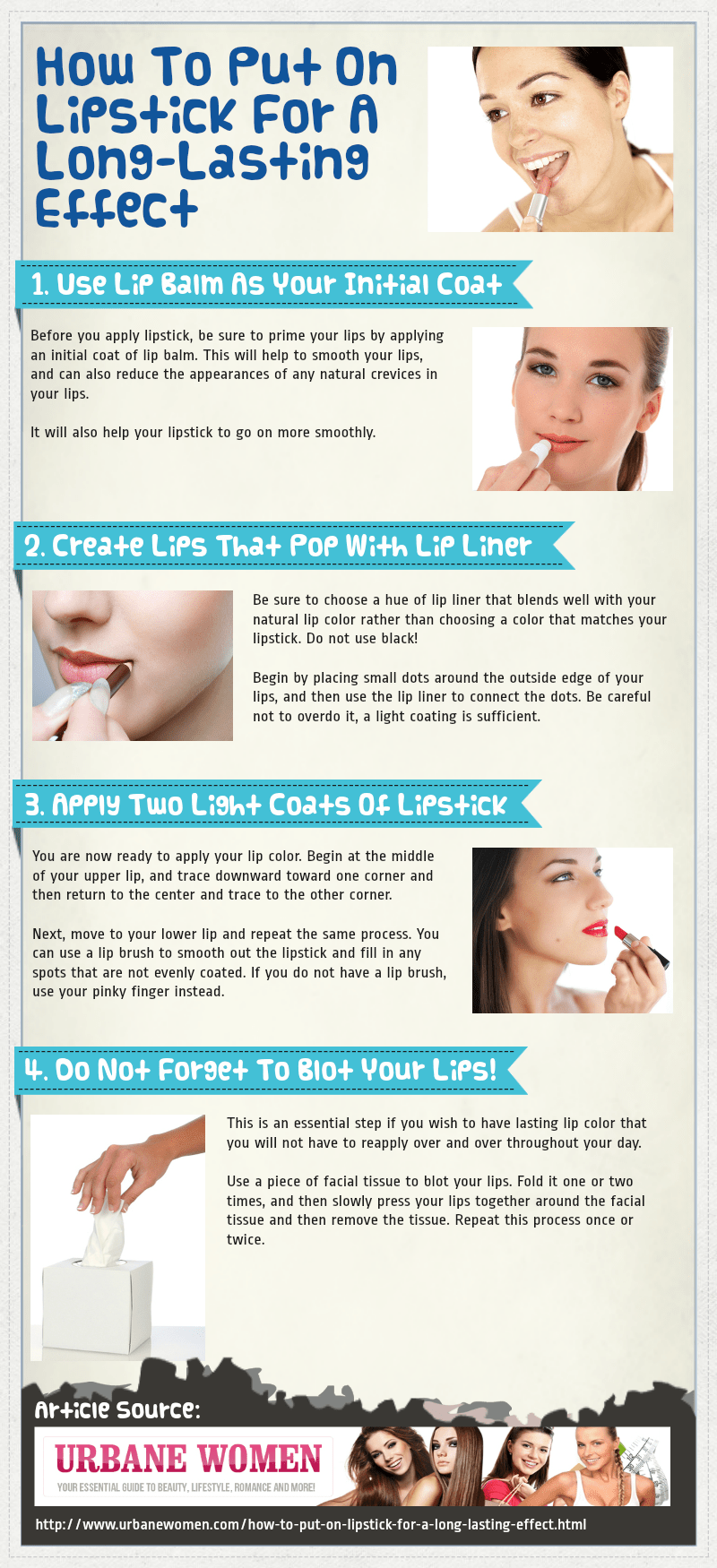 How To Put On Lipstick For A Long-Lasting Effect