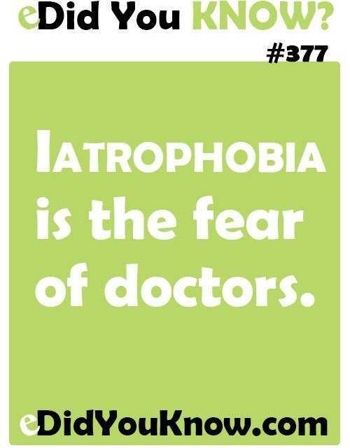 Iatrophobia
