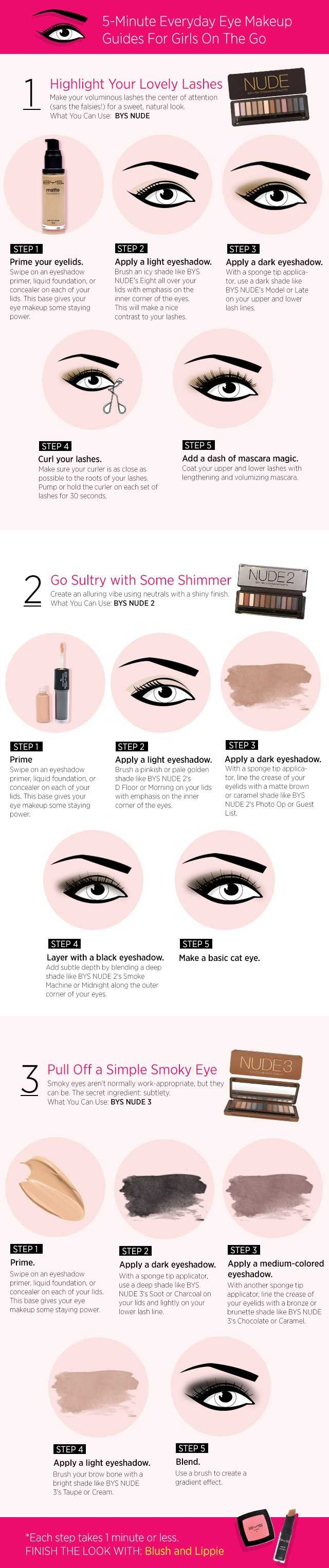 5-Minute Everyday Eye Makeup Guides For Busy Girls