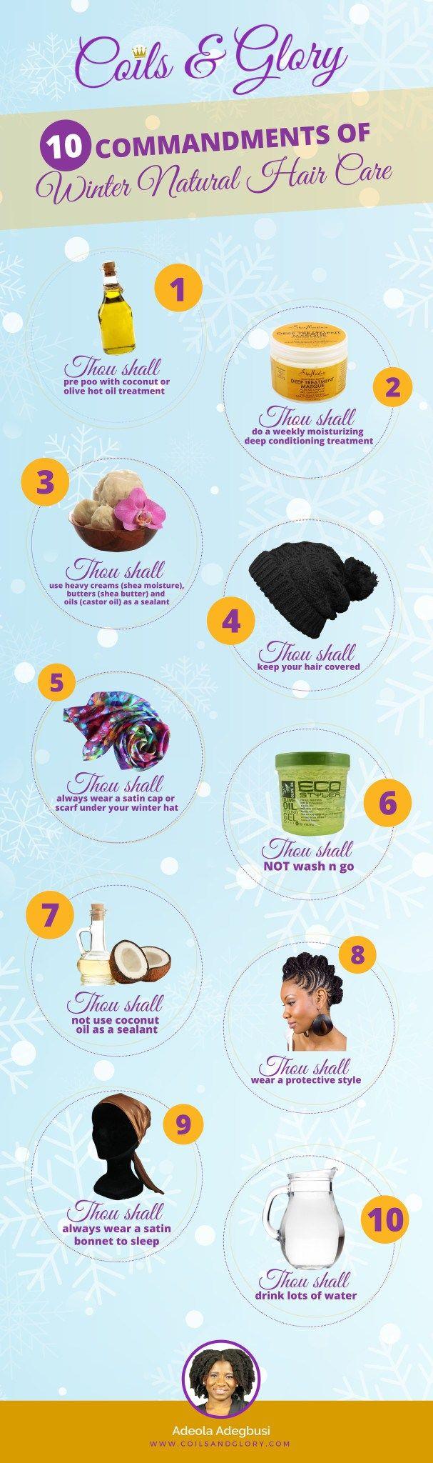 10 Commandments of Winter Natural Hair Care