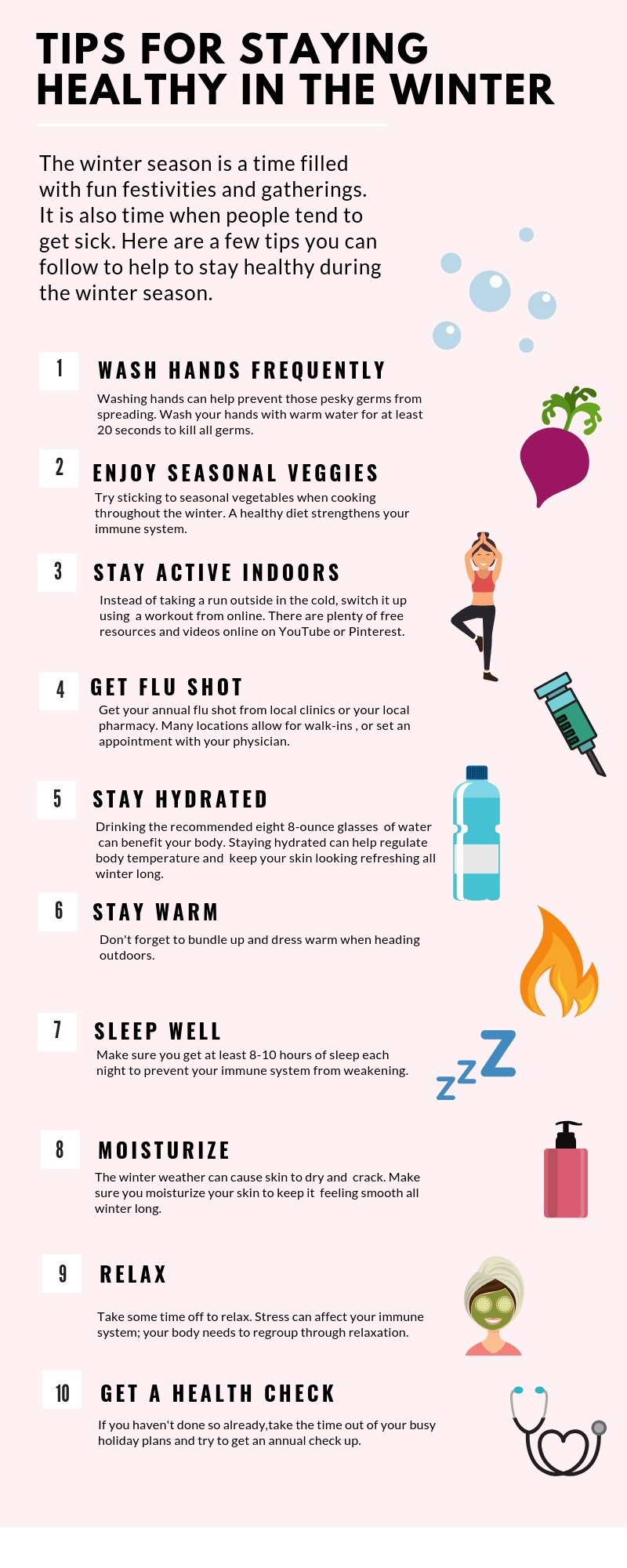 10 Tips for Staying Healthy in the Winter
