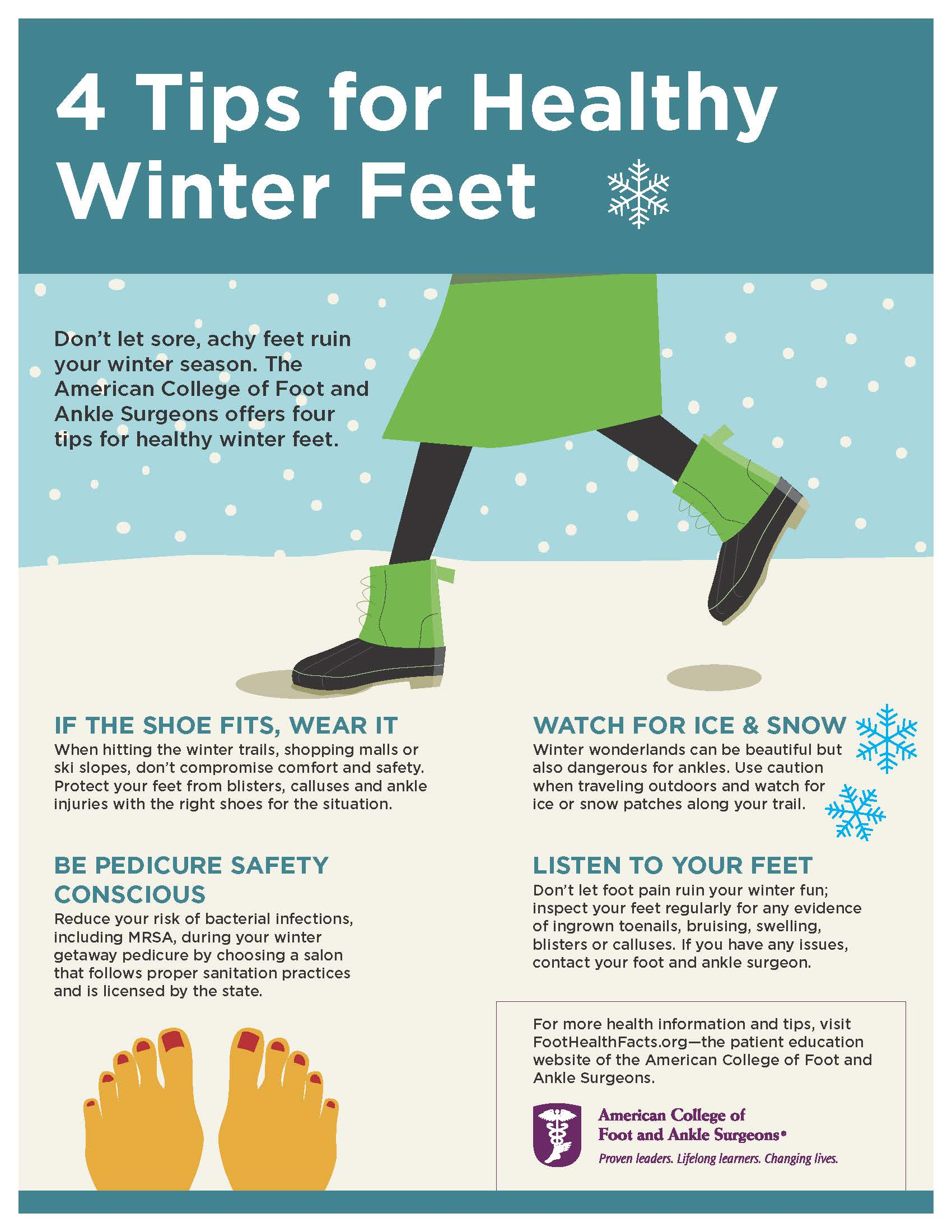 4 Tips for Healthy Winter Feet