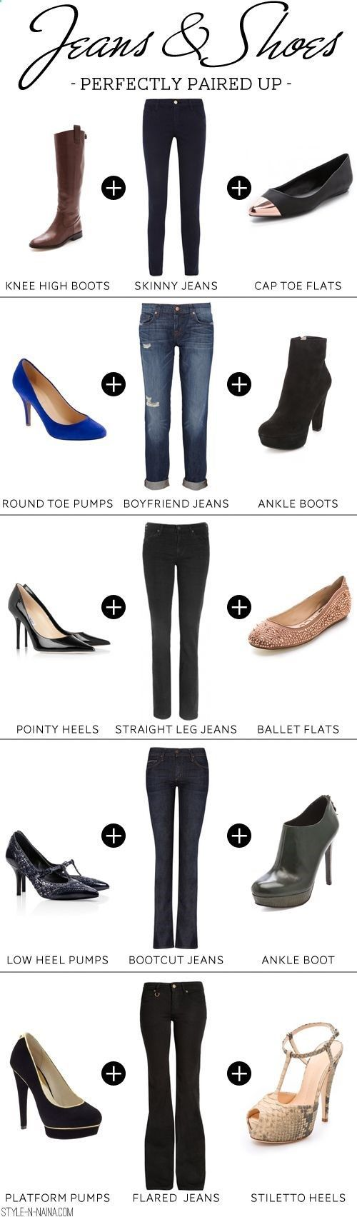 Jeans & Shoes Perfectly Paired Up