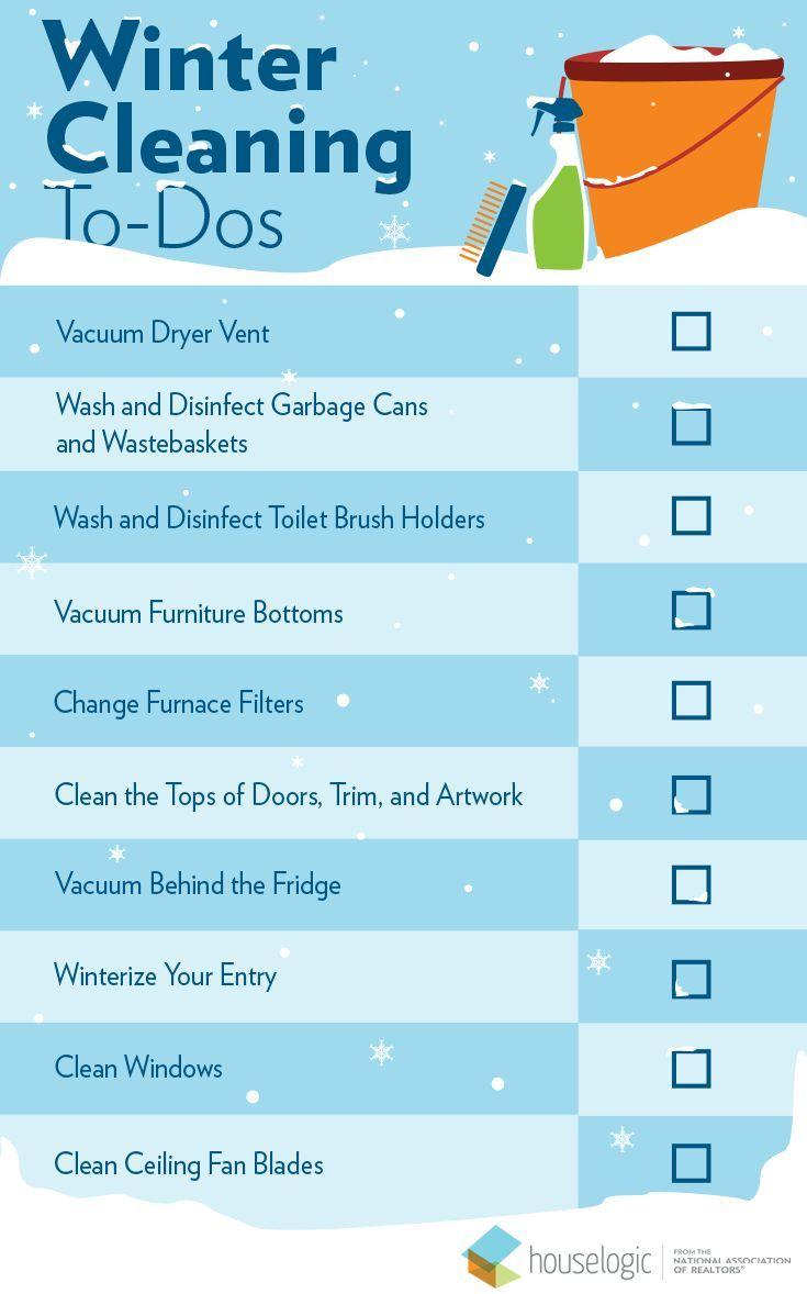 Winter Cleaning Checklist