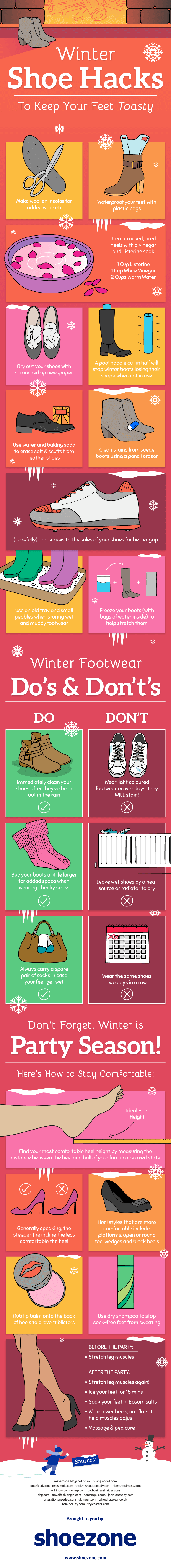 Winter Hacks to Protect Your Shoes and Feet