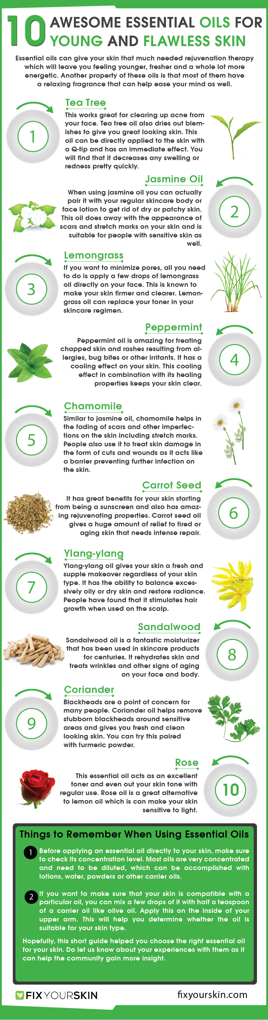 10 Awesome Essential Oils for Young and Flawless Skin