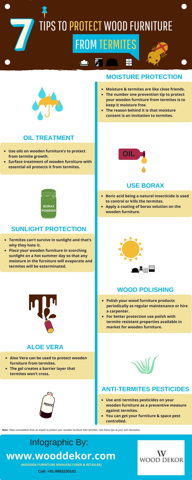7 Tips to Prevent Wooden Furniture from Termites