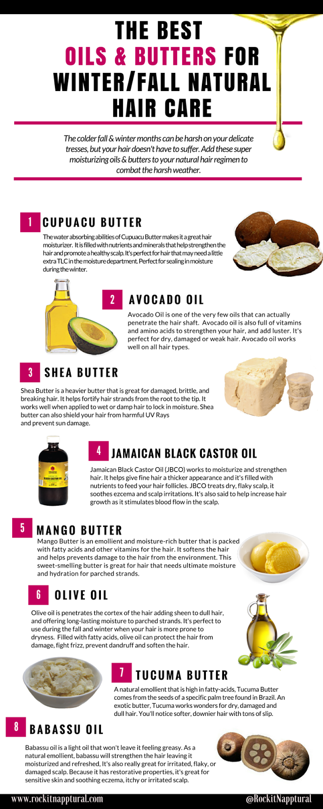 The Best Oils & Butters for Winter & Fall Hair Care
